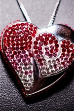 Preview iPhone wallpaper Love heart pendant, jewelry, decoration