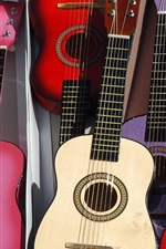 Preview iPhone wallpaper Many guitars, colors, music theme