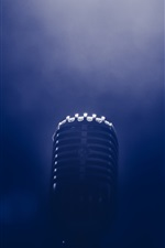 Preview iPhone wallpaper Microphone, darkness