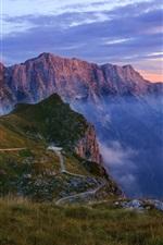 Preview iPhone wallpaper Mountains, gorge, haze, nature landscape