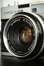 Olympus camera close-up