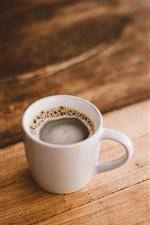 Um copo de café, espuma, bebidas