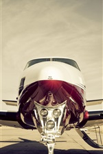 Preview iPhone wallpaper Plane, propeller, turbine, cabin, airport