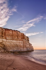 Preview iPhone wallpaper Praia de Benagil, Portugal, Algarve, sea, beach, mountain