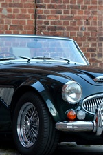 Retro black cabriolet car