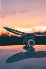 Preview iPhone wallpaper Skateboard, sunset