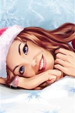 Sorria menina, ursinho de pelúcia, Natal