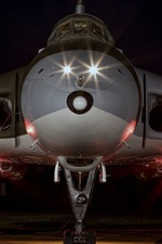 Preview iPhone wallpaper Strategic bomber front view, night