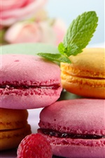 Preview iPhone wallpaper Sweet food, almond macarons, cookies