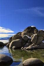 Preview iPhone wallpaper USA, stones, sea, coast