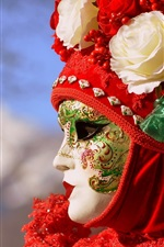 Preview iPhone wallpaper Venice, mask, Italy culture