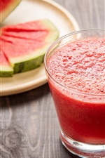 Preview iPhone wallpaper Watermelon juice, drinks, glass cup