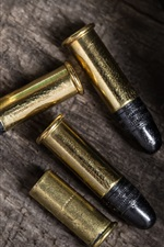 Preview iPhone wallpaper Weapon, ammunition, bullets