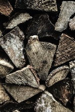 Preview iPhone wallpaper Wooden texture background, firewood