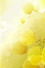 Preview iPhone wallpaper Yellow flowers background, postcard