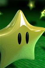 Preview iPhone wallpaper 3D green stars