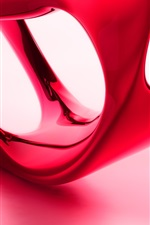 Preview iPhone wallpaper 3D red shape