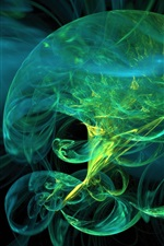 Preview iPhone wallpaper Abstract green jellyfish