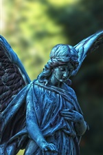 Preview iPhone wallpaper Angel statue, girl, wings