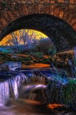 iPhone fondos de pantalla Arco, puente, piedras, corriente