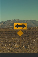 Preview iPhone wallpaper Arrow, point, road sign