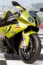 Preview iPhone wallpaper BMW S1000RR green motorcycle