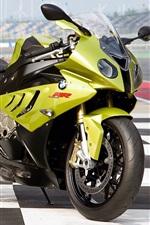 미리보기 iPhone 배경 화면 BMW S1000RR 녹색 오토바이