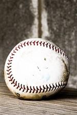 Baseball, wood board