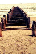 Preview iPhone wallpaper Beach, pier, wood