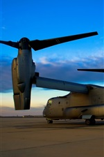 Preview iPhone wallpaper Bell Boeing V-22 Osprey military aircraft