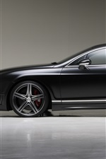 Preview iPhone wallpaper Bentley Continental GT black car side view