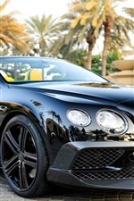 Preview iPhone wallpaper Bentley Continental GT luxury black car