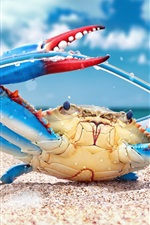 Blue crab want to cut wire