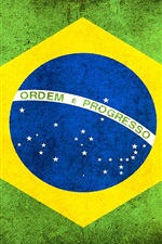 Preview iPhone wallpaper Brazil flag