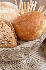 Preview iPhone wallpaper Bread, food, flour
