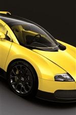 Vorschau des iPhone Hintergrundbilder Bugatti Veyron gelber Supersportwagen