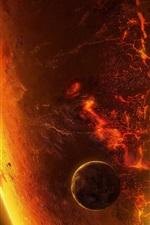 Brennende Planeten, heiß