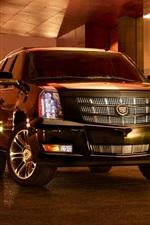 미리보기 iPhone 배경 화면 밤에 캐딜락 SUV 자동차
