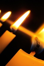 Preview iPhone wallpaper Candles, flame, fire, candlelight