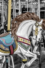 Preview iPhone wallpaper Carousel horse