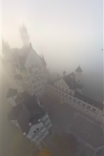 Preview iPhone wallpaper Castle, fog, top view, Germany