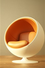 Preview iPhone wallpaper Chair, design, like a ball