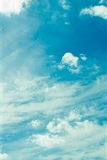 Preview iPhone wallpaper Cloudy sky, blue