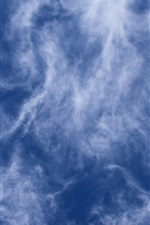 Preview iPhone wallpaper Cloudy sky, dusk