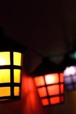 Luzes coloridas, lâmpada, noite