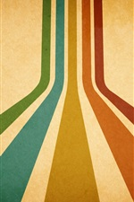 Preview iPhone wallpaper Colorful lines, orange background