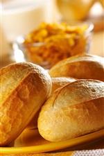 Pão delicioso, café da manhã