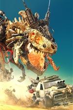 iPhone fondos de pantalla Desierto, dinosaurios, robot, autos, juegos