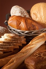 Preview iPhone wallpaper Different kinds bread