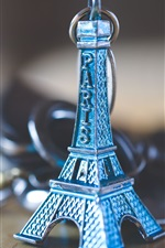 Preview iPhone wallpaper Eiffel Tower toy, decoration